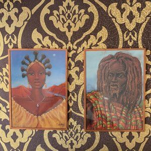 """Artwork by Carlos Spivey """"Oshun"""" &"""" One With Jah"""""""